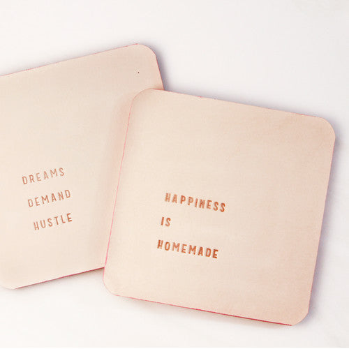 Embossed Leather Coasters