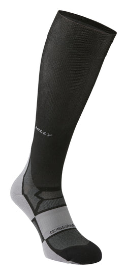 Hilly M Pulse Compression Sock - Black/ Grey