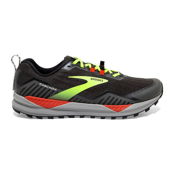 Brooks M Cascadia 15 - Black/Raven/Cherry/Tomato