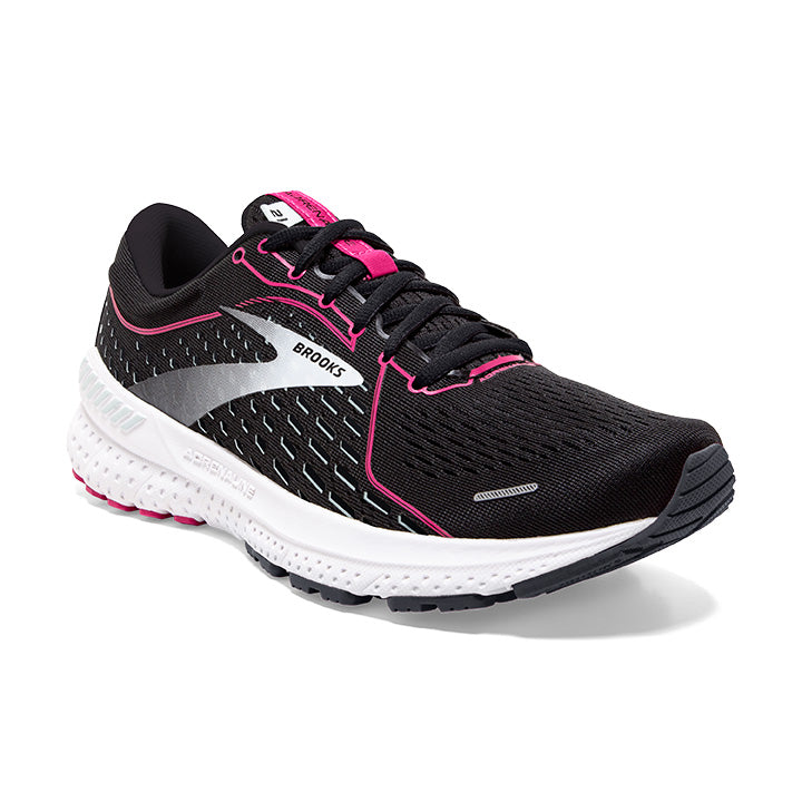 Brooks W Adrenaline GTS 21 | Wide - Black/Raspberry Sorbet/Ebony