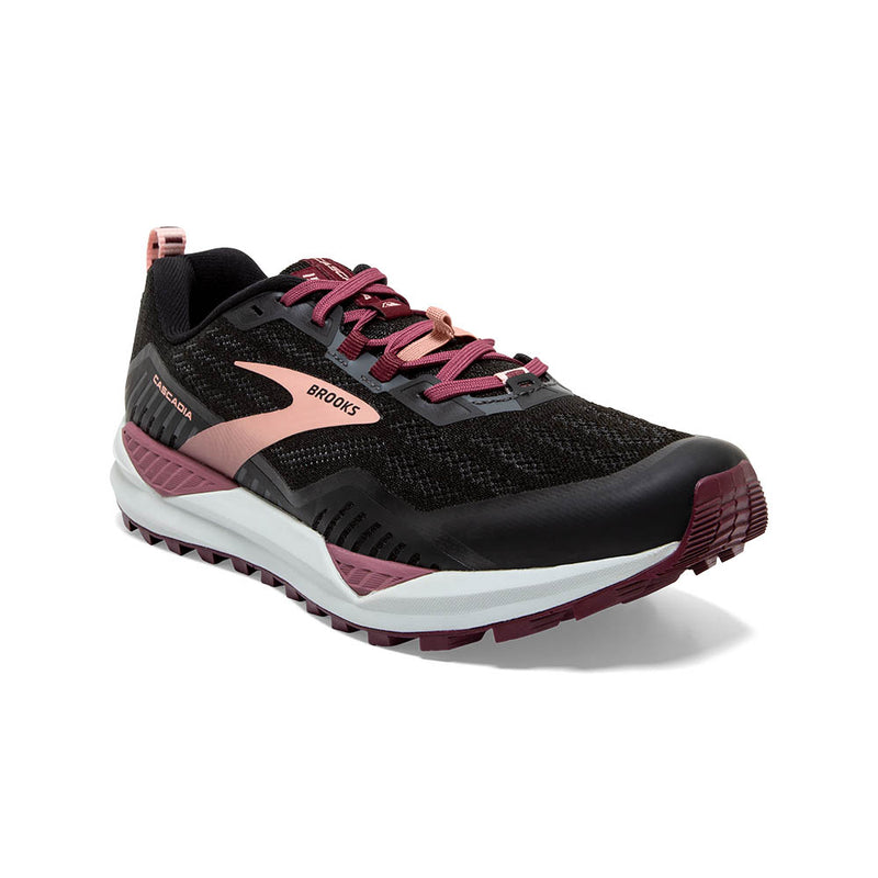 Brooks W Cascadia 15 - Black/Ebony/Coral Cloud