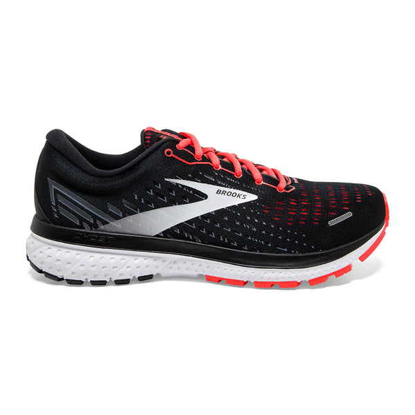 Brooks W Ghost 13 - Black/Ebony/Coral