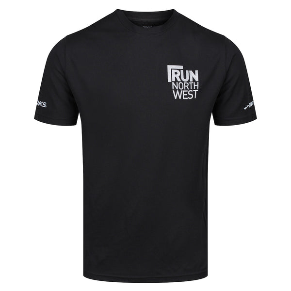 Run North West Brooks T-Shirt - Black