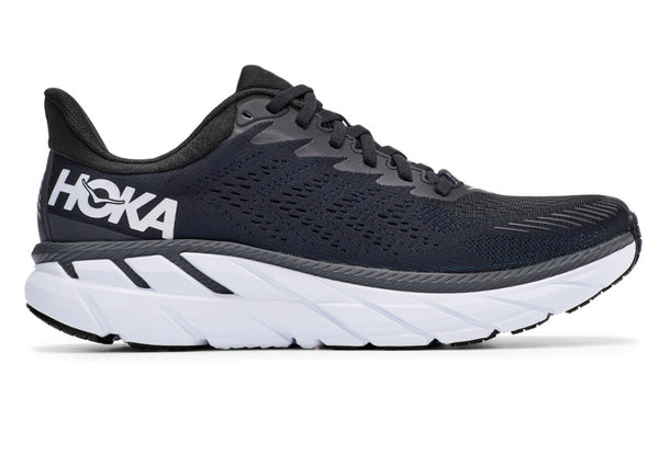 Hoka M Clifton 7 | Wide - Black/White