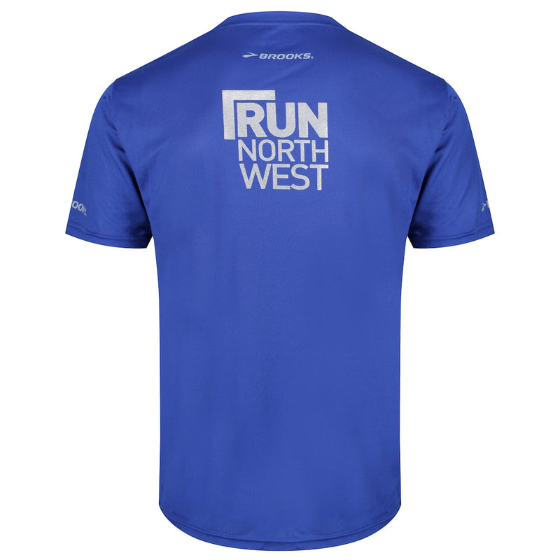 Run North West Brooks T-Shirt - Royal Blue