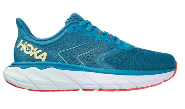 Hoka W Arahi 5 - Mosiac Blue/Luminary Green