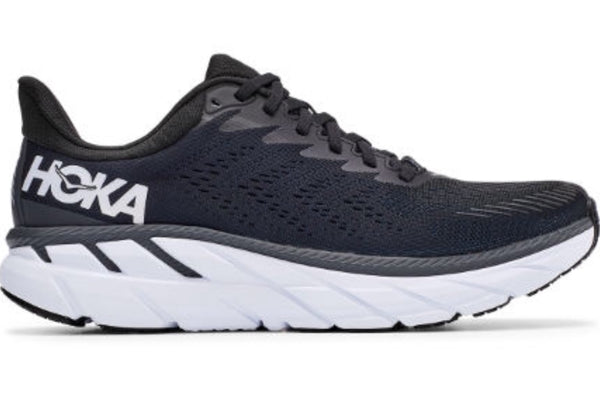 Hoka W Clifton 7 | Wide - Black/White