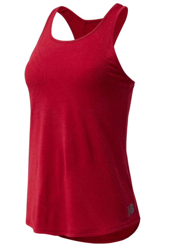 New Balance W Q Speed Fuel Jacquard Vest - Red