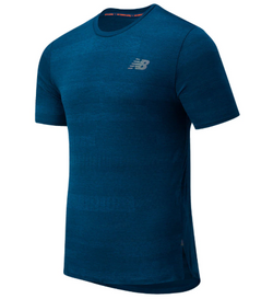 New Balance M Q Speed Fuel T-Shirt - Rouge Wave
