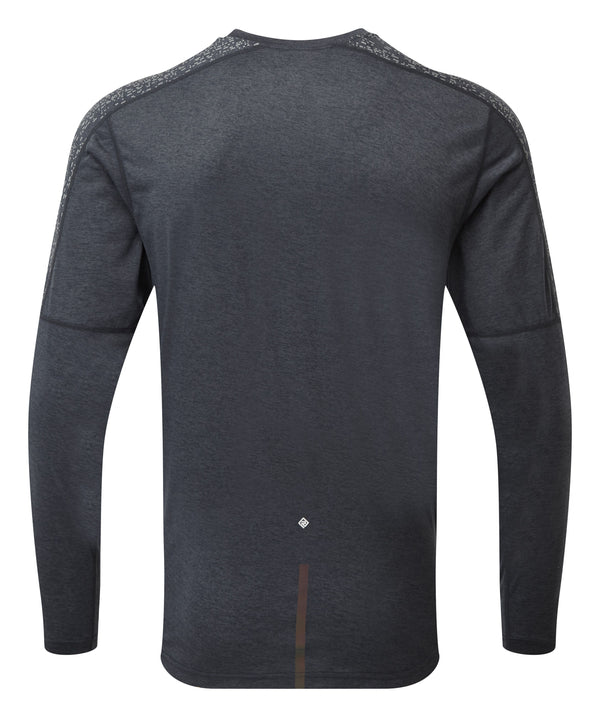 RonHill M Life Nightrunner Long Sleeve Top - Charcoal/Reflect