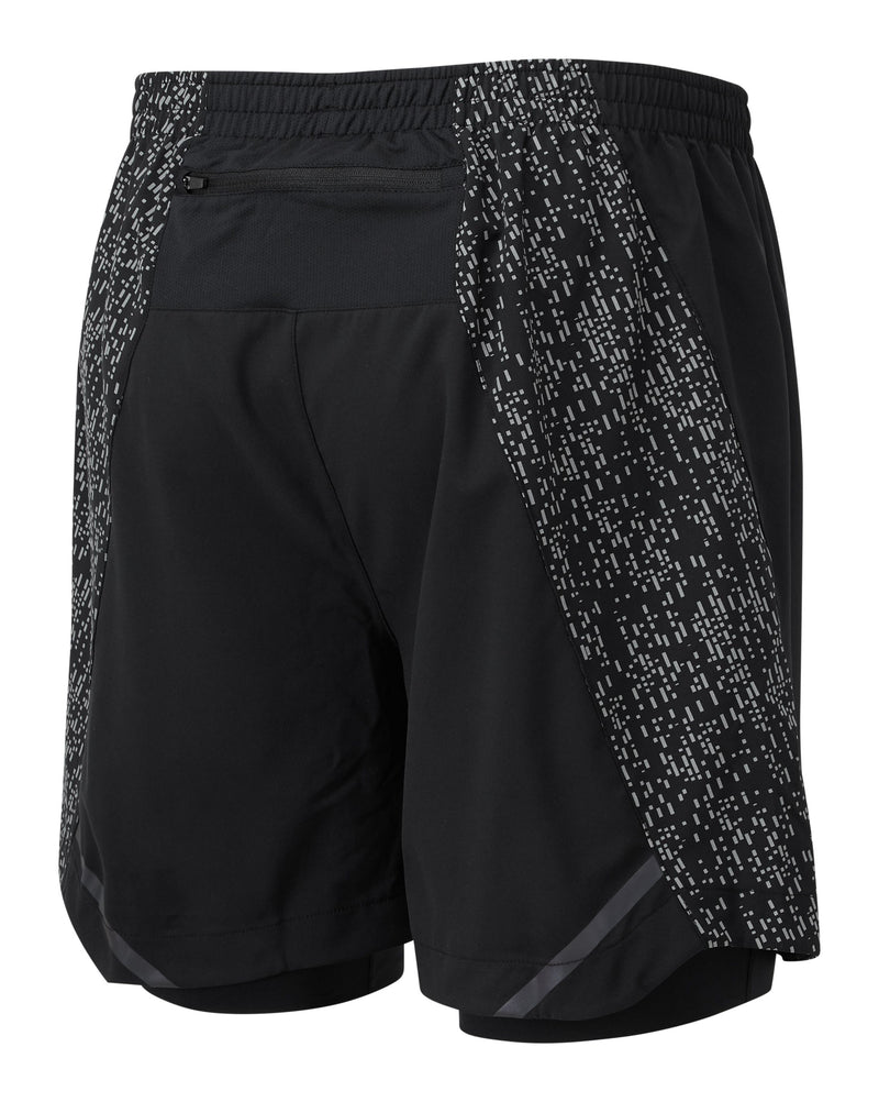 "RonHill M Life Night Runner 5"" Twin Short -Black/Reflect"