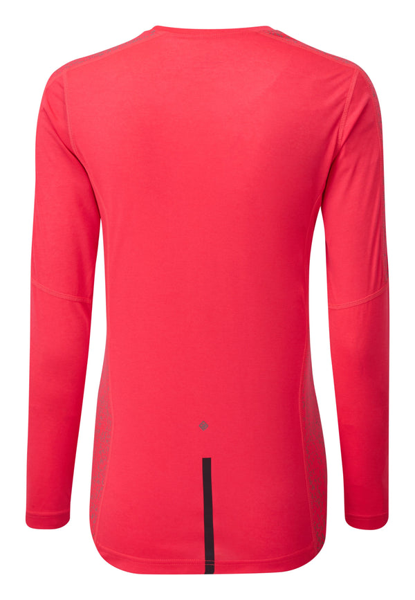 RonHill W Life Nightrunner Long Sleeve Top - Hot Pink/Reflect
