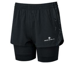 RonHill W Tech Marathon Twin Short  - Black