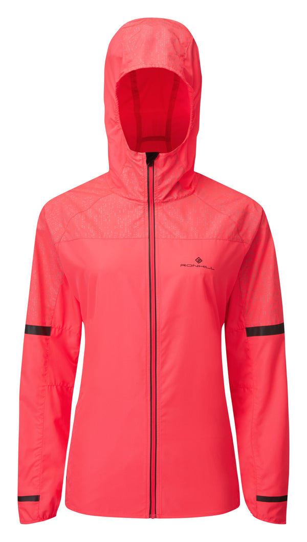 RonHill W Life Nightrunner Jacket - Hot Pink/Reflect