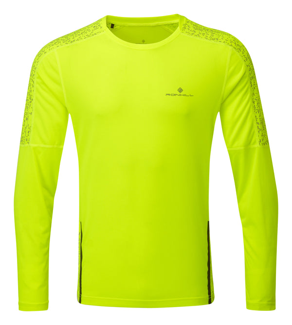 RonHill M Life Nightrunner Long Sleeve Top - Fluo Yellow/Reflect