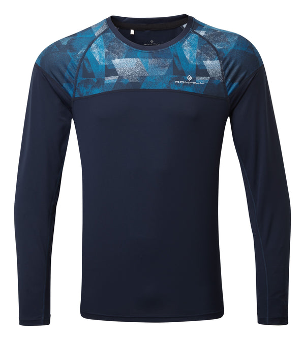 RonHill M Tech Revive L/S Top -DeepNavy/Atlantic