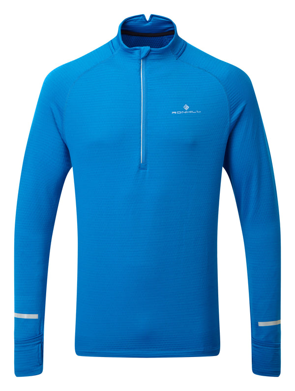 RonHill M Tech Matrix 1/2 Zip Top - Atlantic/Powder Grey