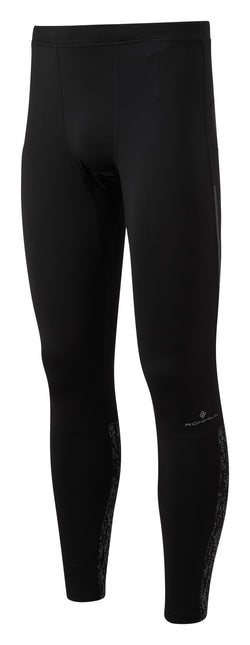 RonHill M Life Nightrunner Tight - Black/Reflect