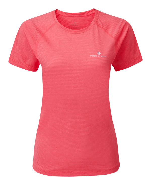 RonHill W Tech T-Shirt -HotPinkMarl/Chambray