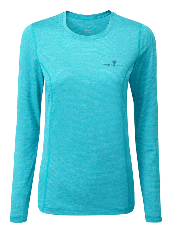 RonHill W Tech Long Sleeve Top - Spa Green Marl/Deep Navy