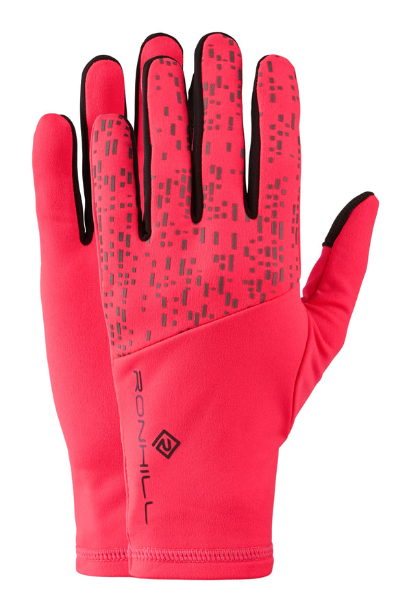 RonHill Nightrunner Glove - Hot Pink/Reflect