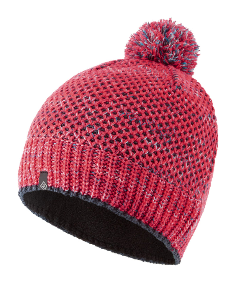 RonHill Bobble Hat - Hot Pink/Charcoal
