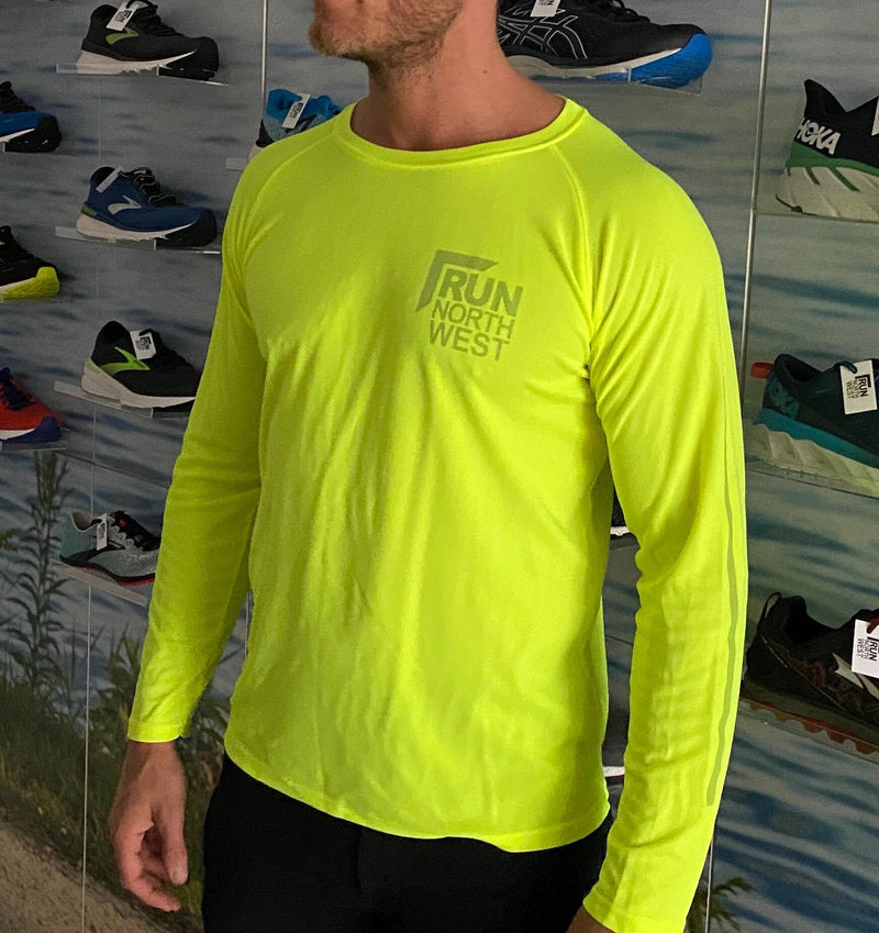 Run North West Long Sleeve Top - Florescent Yellow