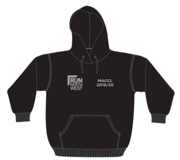Run North West Hoodie MACCL 2019/20 - Black/Silver