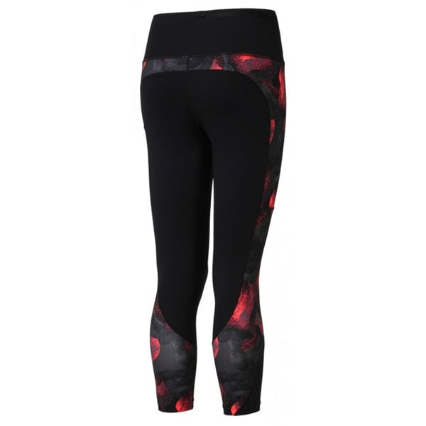 Ronhill W Momentum Sculpt Crop Tight - Black/ Hot Pink Wave