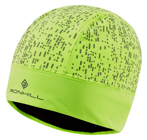 RonHill Nightrunner Beanie - Fluo Yellow/Reflect
