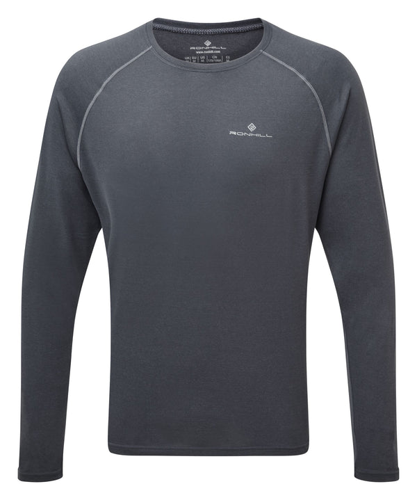 RonHill M Core - Long Sleeve Tee - Charcoal Marl