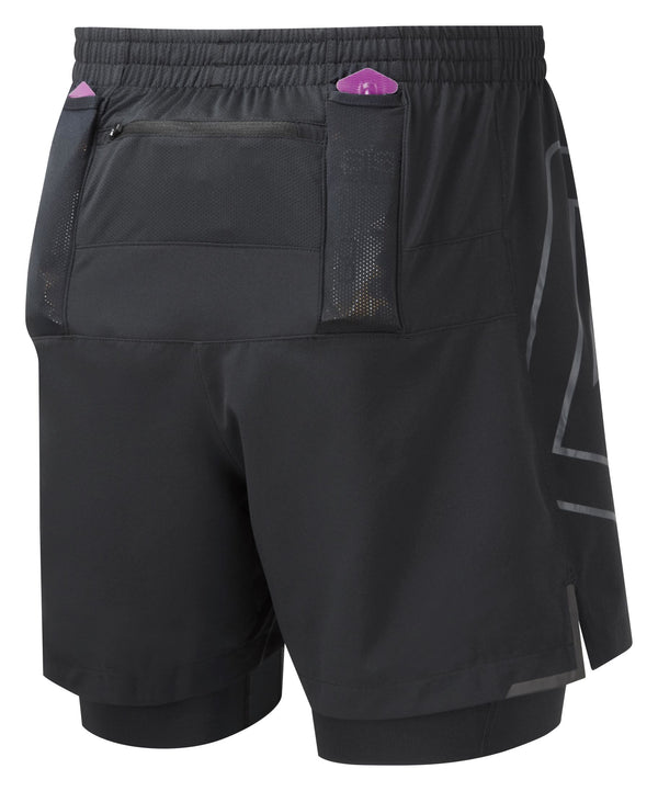 RonHill M Tech Marathon Twin Short - All Black