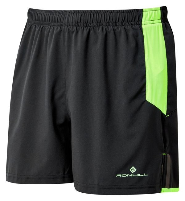 RonHill M Tech Cargo Short - Black/Fluro Green