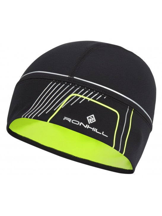RonHill Run Beanie - Black/Fluo Yellow