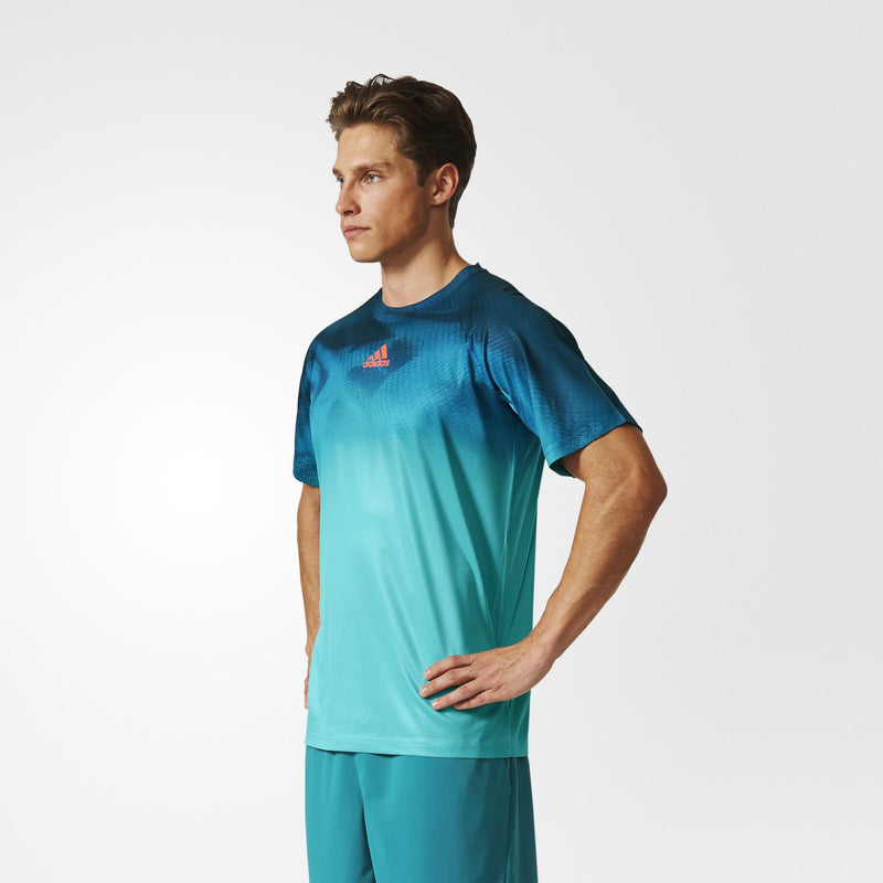 Adidas Mens Adizero Training Tee - Petrol/Black