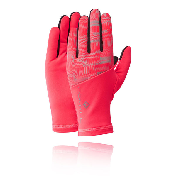 Womens RonHill Afterlight Gloves - Hot Pink/Reflect