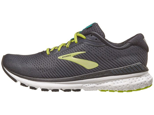 Brooks M Adrenaline GTS 20 | Wide  - Black/ Lime/ Blue Grass
