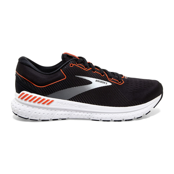 Brooks M Transcend 7 - Black/Cherry Tomato/White