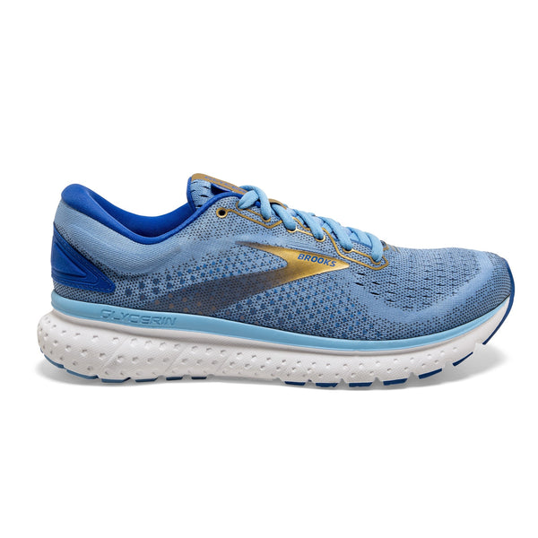 Brooks W Glycerin 18 - Cornflower/Blue/Gold