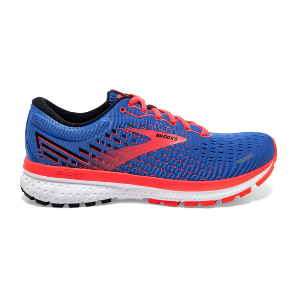 Brooks W Ghost 13 - Blue/Coral/White