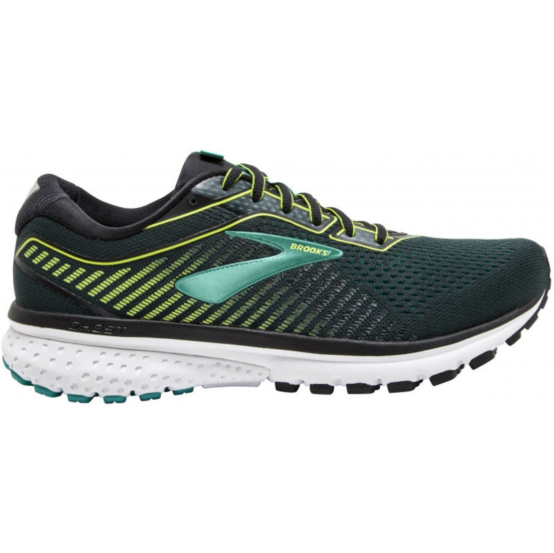 Brooks M Ghost 12 - Black Lime Blue Grass