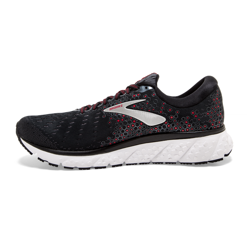Brooks Mens Glycerin 17 - Black/Ebony/Red