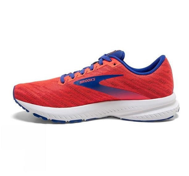 Brooks W Launch 7 - Coral/Claret/Blue