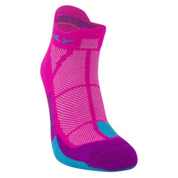 Hilly W Cushion Socklet - Fluo Pink Blue