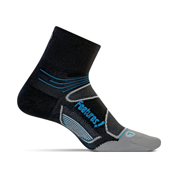 Feetures Elite Ultralight Quarter - Black/Blue/Grey