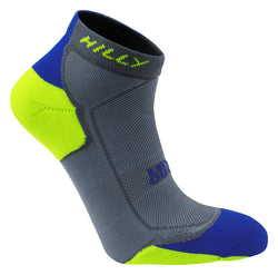 Hilly M Lite Cushion Quarter - Grey/Cobalt