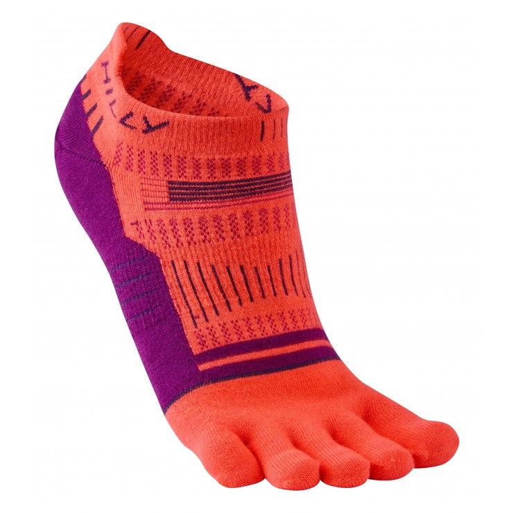 Hilly W Toe Socks - Coral Grape Juice