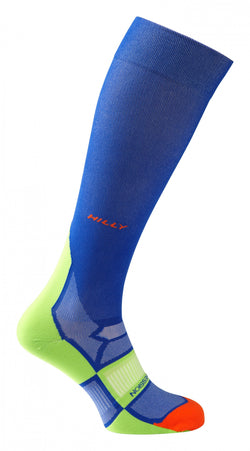 Hilly Pulse Compression Sock - Cobalt Green Orange