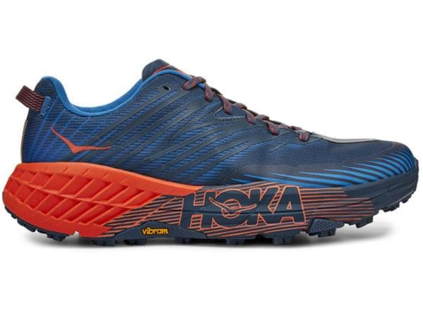 Hoka Mens Speedgoat 4 - Majolica Blue / Mandarin Red