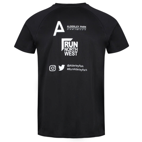 Run North West Alderley Park Trail Race T-Shirt 2019- Black
